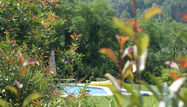 Country villa in the rolling hills of Piemonte surrounded by vineyards